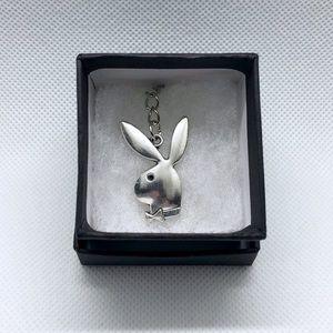 Silver Playboy Bunny Necklace Pendant